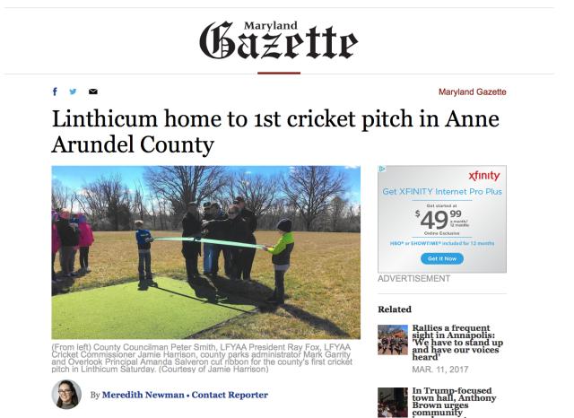 Maryland Gazette coverage